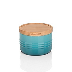 Le Creuset - Smll Storage Jar with Wood Teal
