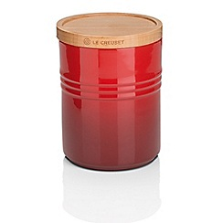 Le Creuset - Med Storage Jar with Wood Cer