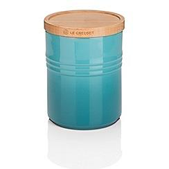 Le Creuset - Med Storage Jar with Wood Teal