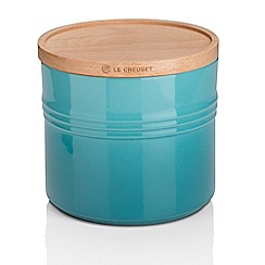Le Creuset - XL Storage Jar with Wood Teal