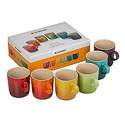 Le Creuset - Set of 6 rainbow 350ml mugs