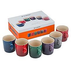 Le Creuset - Set 6 Moorland 350ml Mugs