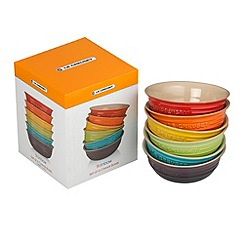 Le Creuset - Set 6 Rainbow Cereal Bowls