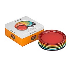 Le Creuset - Set of 6 rainbow 18cm plates