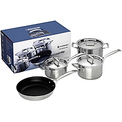 Le Creuset - 3-ply Stainless Steel 4 piece set