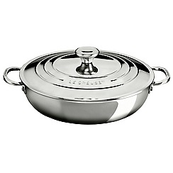 Le Creuset - Signature Stainless Steel 30cm Shallow Cass