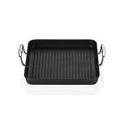 Le Creuset - Toughened Non-Stick 28cm Ribbed Square Grill 2 Handle
