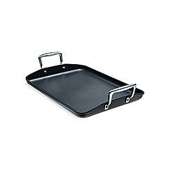 Le Creuset - Black toughened non-stick 34cm grill