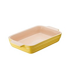 Le Creuset - Stoneware Elysees Yellow Rectangle Dish 26cm