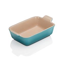 Le Creuset - Teal stoneware 19cm deep rectangular dish