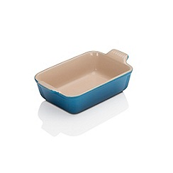 Le Creuset - Marseille Blue stoneware 19cm deep rectangular dish