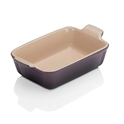 Le Creuset - Cassis stoneware 19cm deep rectangular dish