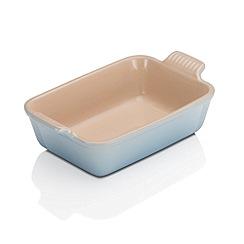 Le Creuset - Coastal Blue stoneware 19cm deep rectangular dish
