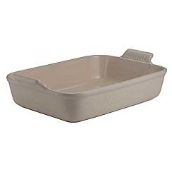 Le Creuset - Almond stoneware 19cm deep rectangular dish