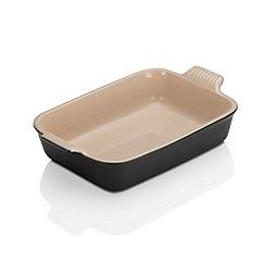 Le Creuset - Satin Black stoneware deep Rect Dish 26cm