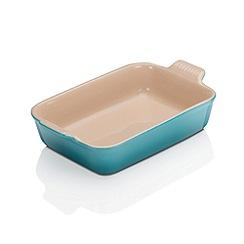 Le Creuset - Teal Stoneware deep rect dish 26cm