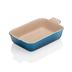 Le Creuset - Marseille blue stoneware 26cm rectangular deep dish