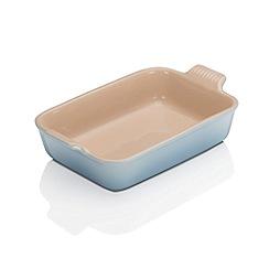 Le Creuset - Coastal Blue stoneware 26cm deep rectangular dish