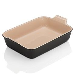 Le Creuset - Satin Black stoneware deep  Rect Dish 32cm