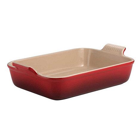 Le Creuset - Cerise stoneware 32cm deep rectangular dish
