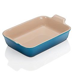Le Creuset - Marseille blue stoneware 32cm rectangular deep dish