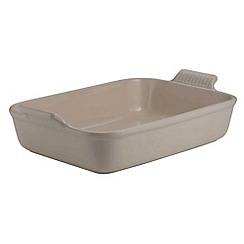 Le Creuset - Almond stoneware 32cm deep rectangular dish