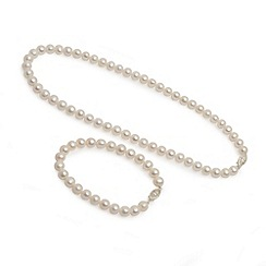 Love Story - Freshwater pearl bracelet and necklace silver clasp
