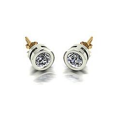 Moissanite - 9ct gold 5.0mm single stone earrings