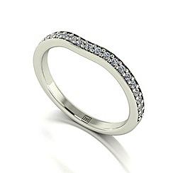 Moissanite - 9ct white gold 0.25ct total ring