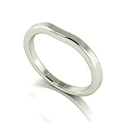 Moissanite - 9ct white gold tapered wedding band