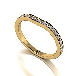 Moissanite - 9ct yellow gold 0.25ct total ring