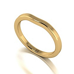 Moissanite - 9ct yellow gold tapered wedding band