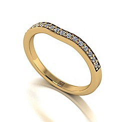 Moissanite - 9ct yellow gold 0.20ct total ring