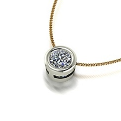 Moissanite - 9ct gold 5.0mm pendant & chain
