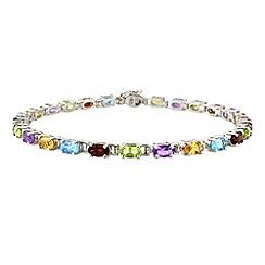 Love Story - Sterling silver rainbow bracelet