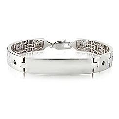 Precious Moments - Sterling silver gents stone set I.D. bracelet
