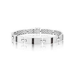 Love Story - Sterling silver CZ bracelet