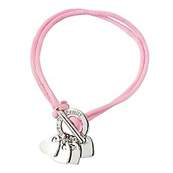Precious Moments - Silver, pink cord bracelet
