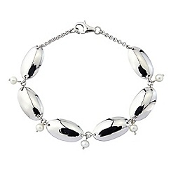 Precious Moments - Silver freshwater pearl pebble bracelet