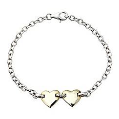 Love Story - Silver & yellow rhodium plated bracelet