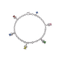 Hoofprints - Silver charm bracelet