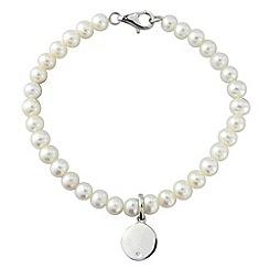 Love Story - Silver & pearl bracelet