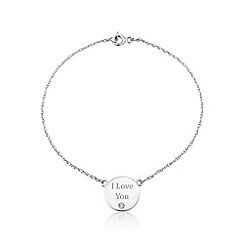 Precious Moments - Sterling silver 'I Love You' bracelet
