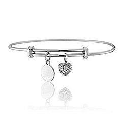 Precious Moments - Silver & cubic zirconia bangle