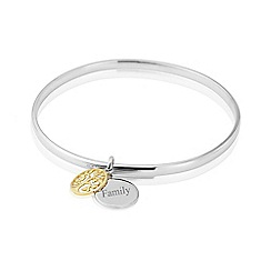 Precious Moments - White bronze 'Family' tree of life bangle