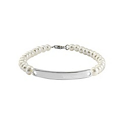 Precious Moments - Sterling silver, freshwater pearl ladies bracelet