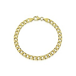 Love Story - Gents silver & gold plated bracelet
