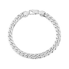 Love Story - Sterling silver gents curb bracelet
