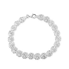 Love Story - Sterling silver ladies detailed bracelet