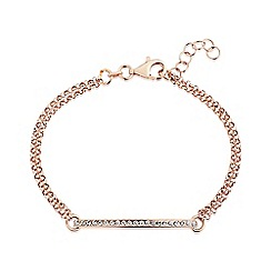 Love Story - 9ct rose gold plated on silver, stone set, bracelet
